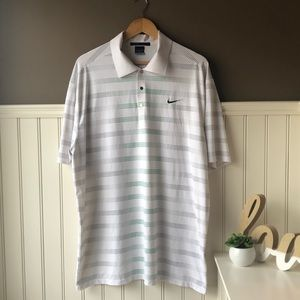 Nike Tiger Woods Collection White Polo Shirt XL